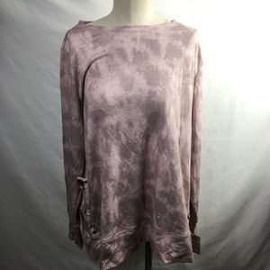 ideology Long Sleeve Lacy Shirt Pink NWT